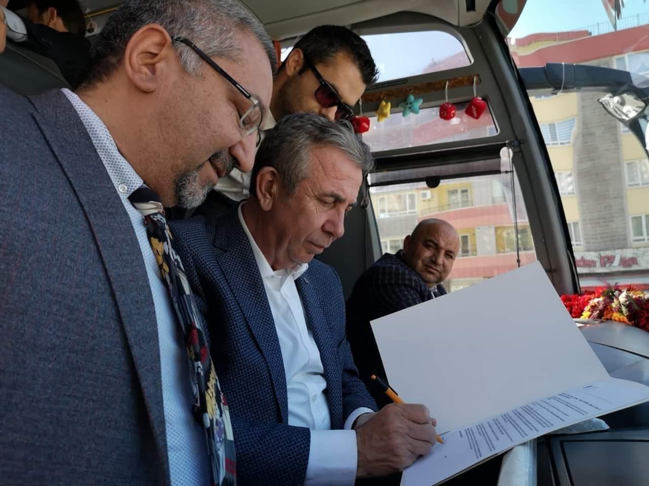 Ankara Büyükşehir Belediye Başkanı Mansur Yavaş Haytap'ın