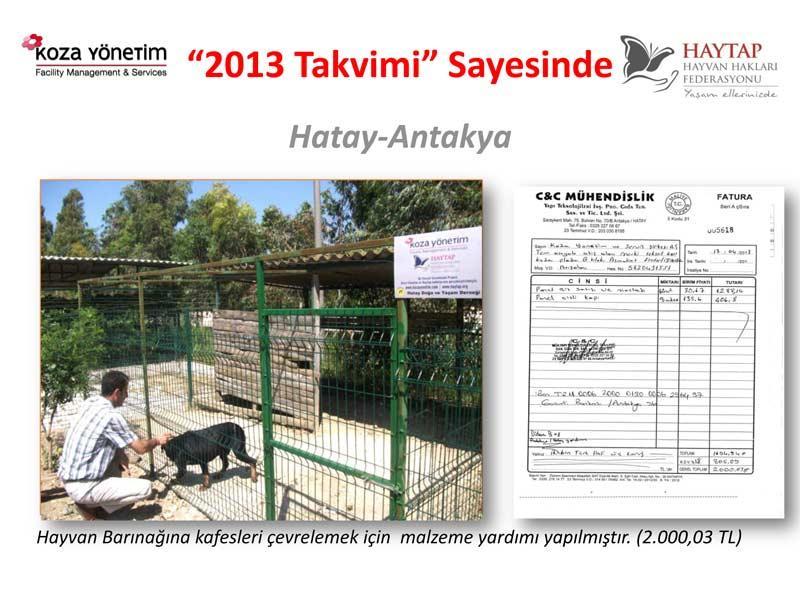 Haytap  2013 Takvimi Sayesinde Yapılan Yardımlar