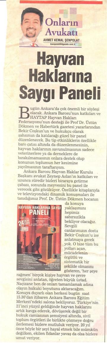 Ankara Hayvan Haklarına Saygı Paneli 2009