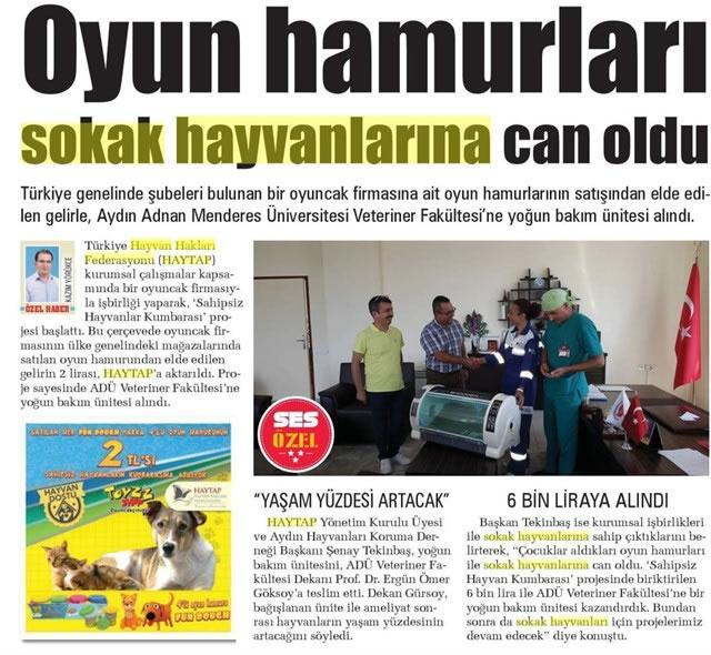 Toyzz Shop & Haytap İşbirliği ile Aydın'a Yoğun Bakım Ünitesi Alındı