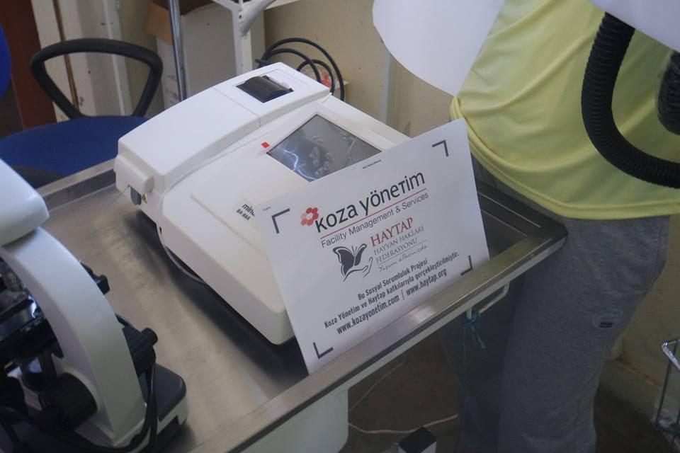 Haytap 2014 Takvim Geliri ile Tatvan Bakımevine Anestezi ve Biyokimya Cihazı, Mikroskop