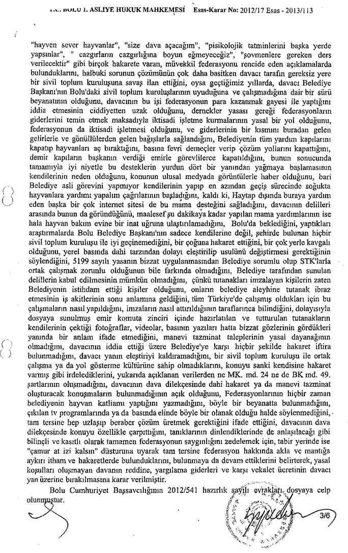 Bolu Belediyesi HAYTAP'a Açtığı Tazminat Davasını da Kaybetti !