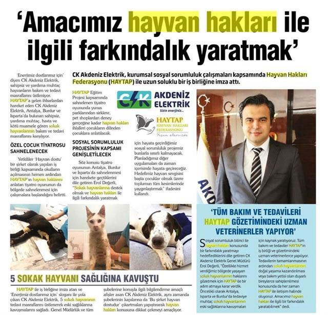 CK Akdeniz Elektrik & Haytap Sosyal Sorumluluk Projesi