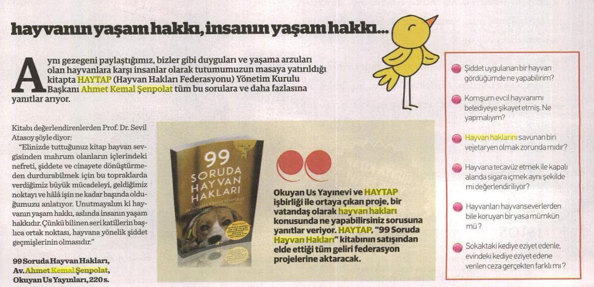 111 Soruda Hayvan Hakları Kitap Eki Tanıtım