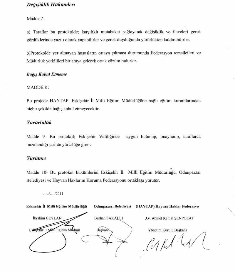 Haytap, Start Aldığı Eğitim Projesi Protokolünü Bu Defa Eskişehir'de İmzaladı.