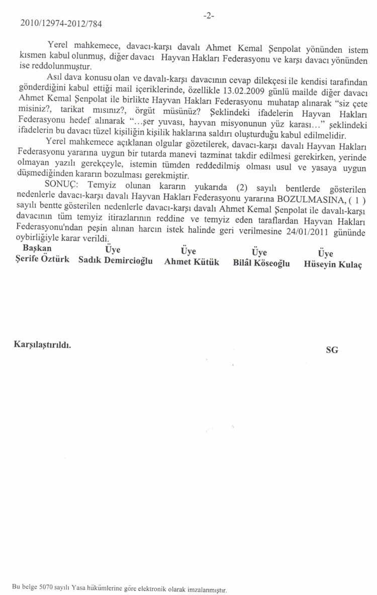 Gamze Erkök Neer , Haytap'a Tazminat Ödemeye Mahkum Oldu.