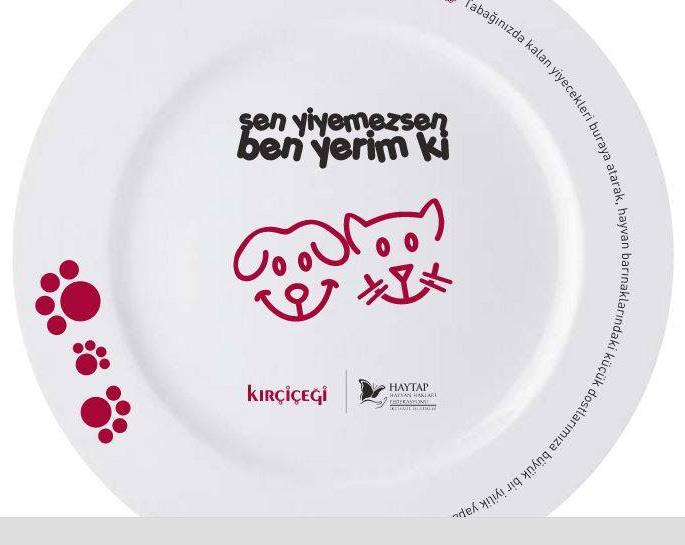 Haytap ve Kırçiçeği Ortak Projesi - 16 Şube'de Tabakta Kalan Yemekler Sokak Hayvanlarına ve Bakımevlerine Gönderilecek