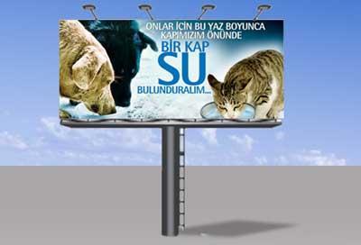 'Bir Kap Su Kampanyası' Elektronik Bilboardlarda