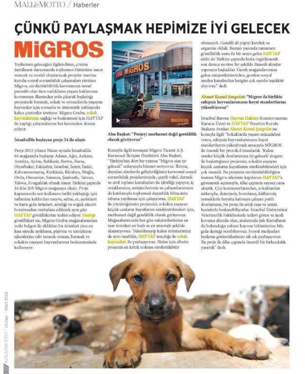 Migros  -Haytap İşbirliği