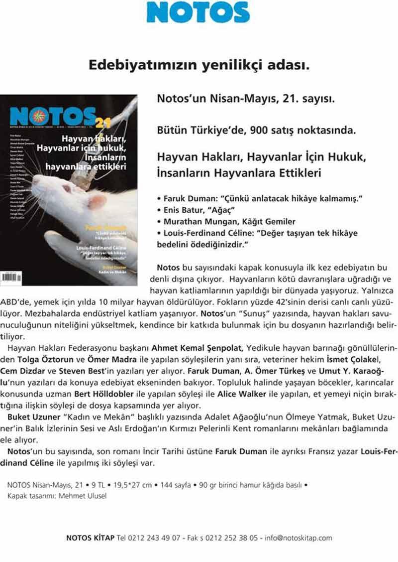HAYTAP, Notos Nisan-Mayıs 21. Sayısında