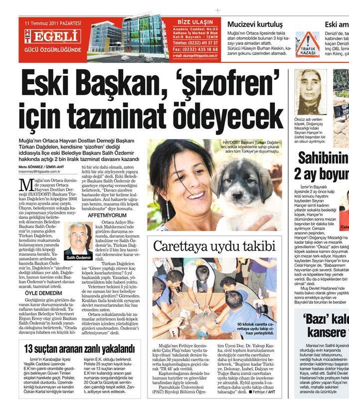 Eski Belediye Başkanına 2.000 Tl Tazminat Ödeme Cezası