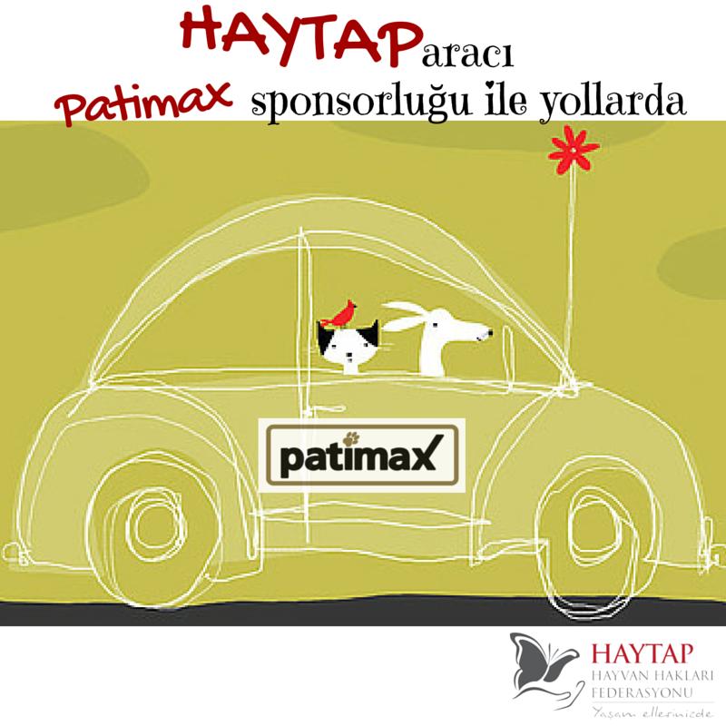 Haytap Yaşam Aracımıza Patimax Sponsorluğu