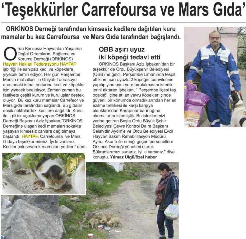 Teşekkürler  Carrefoursa ve Mars Gıda