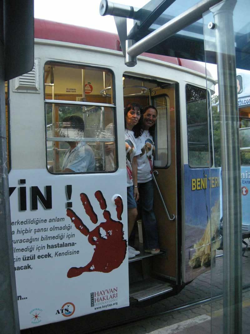 ''BENİ TERK ETME'' Projemiz Nostaljik Tramvayda-2010