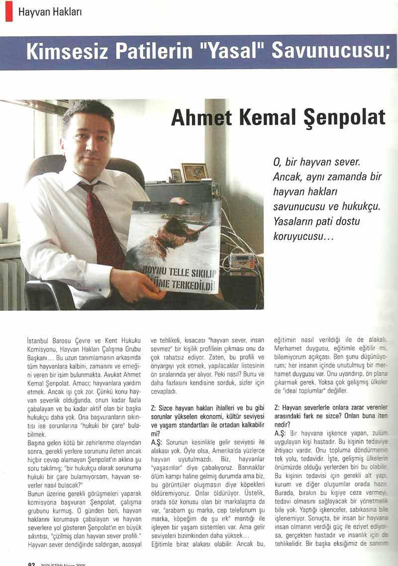 Kimsesiz Patilerin ''Yasal'' Savunucusu- 2006 Röportajı